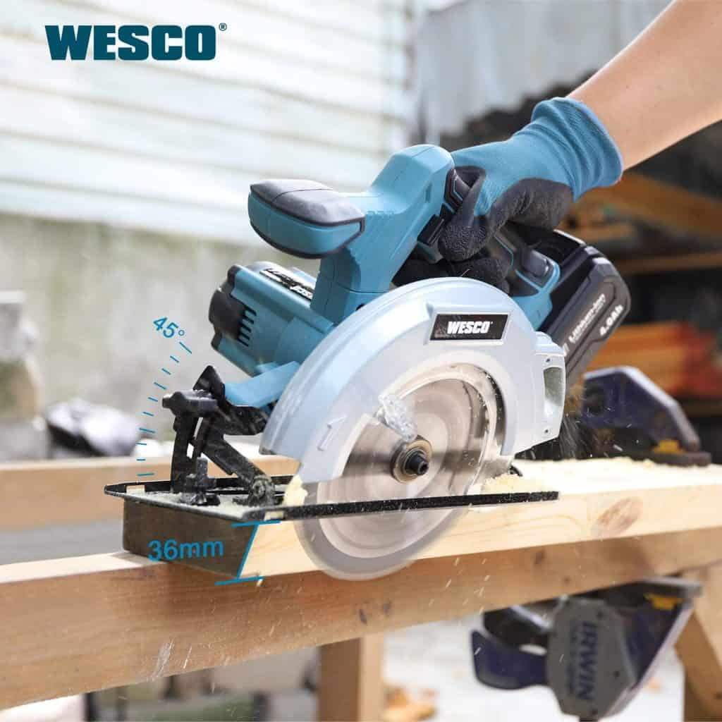 Wesco Cordless Circular Saw Gallery Image 3